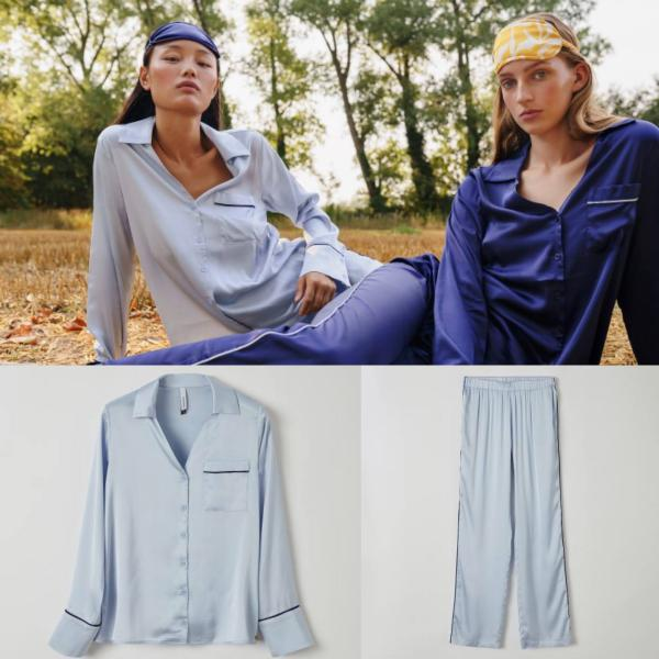 Lords and Lilies Soft Blue Pyjama dames