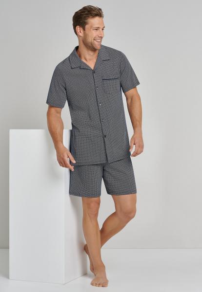 Schiesser Pyjama heren doorknoop