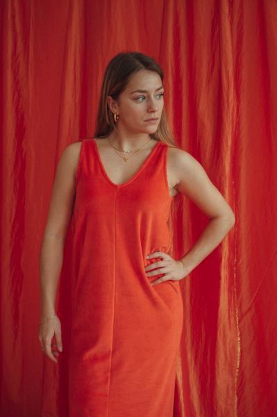 Love Sundaily Pilar Kleed zonder mouw in fluweel