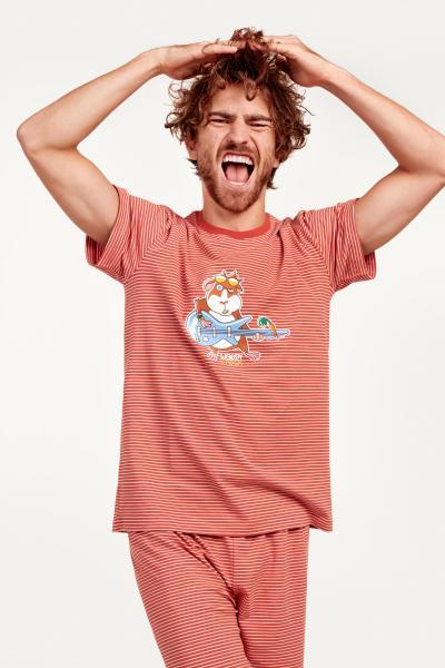 Woody Cavia Pyjama heren strepen