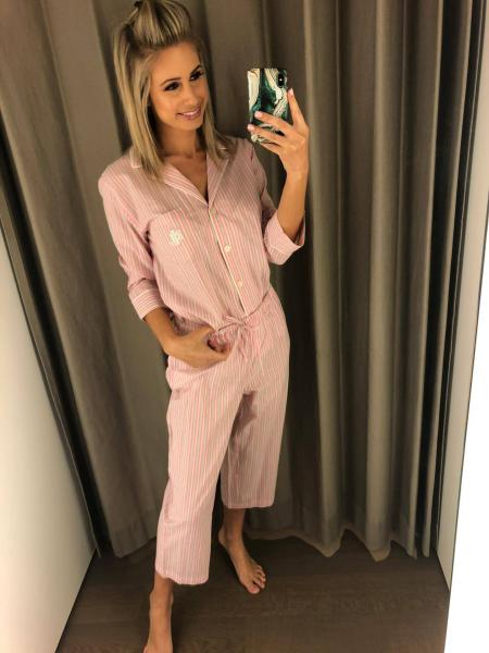 Polo Ralph Lauren Pink Stripe Pyjama dames