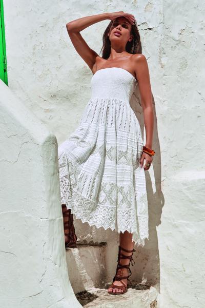 Iconique Grecia Strapless zomerjurk