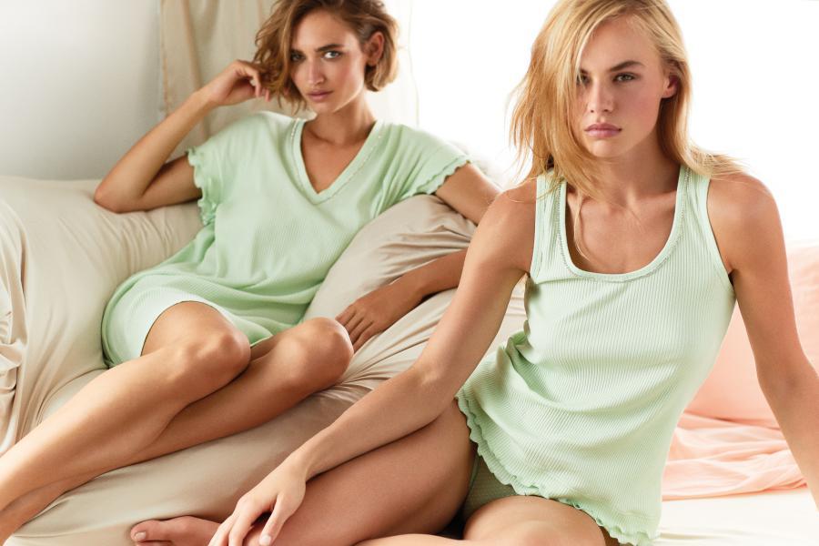 Twin-Set Pastel Slaapkleed korte mouw