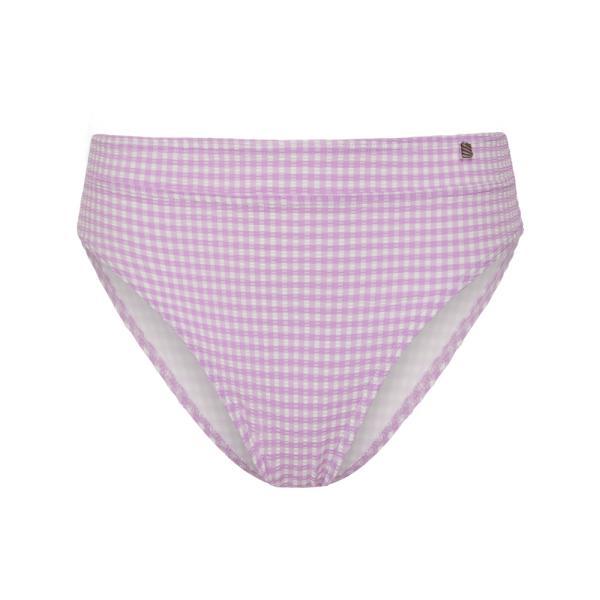 Beachlife Lilac Check Bikinislip high waist