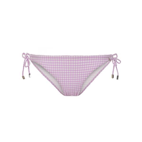 Beachlife Lilac Check Bikinislip strikje