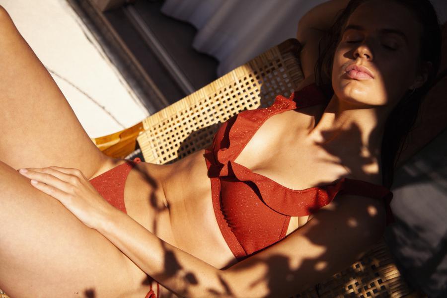 Beachlife Earthy Shimmer Bikiniset halter beugel