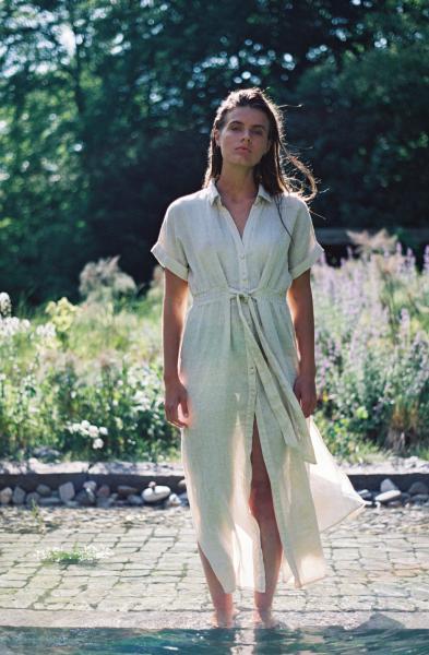 Beachlife Linnen Kleed Long dress