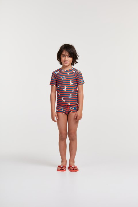 Woody Swim Zeemeeuw UV-tshirt