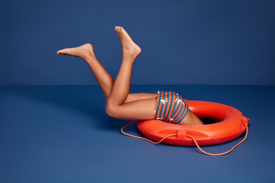 Woody Swim Zeemeeuw Zwemshort kinderen aansluitend