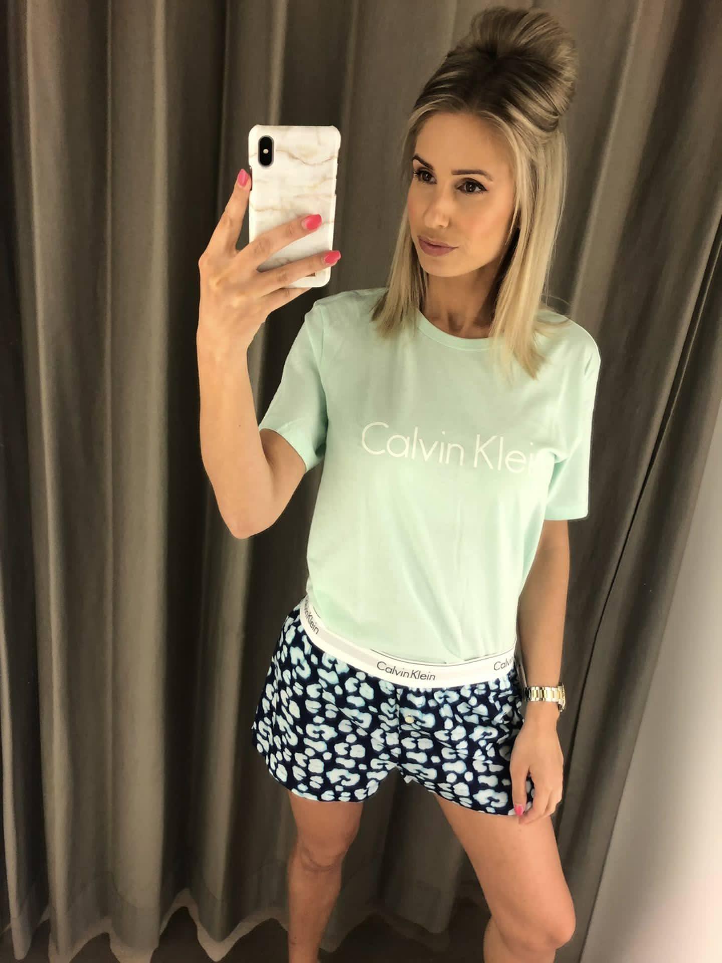 Calvin Klein Leopard Slaapset Tshirt + shortje