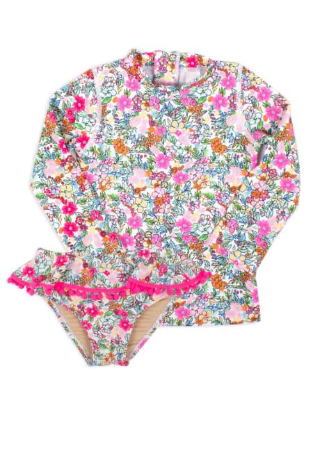 Shade Critters Floral UV shirt + bikinislip