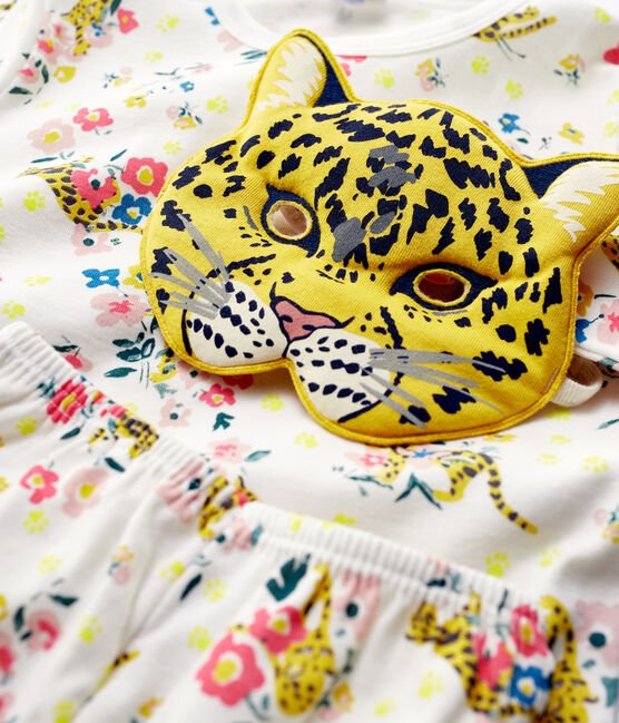 Petit Bateau Panter Pyjama meisjes + masker