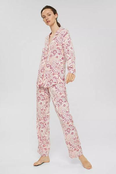 Esprit Paisley Pyjama dames doorknoop