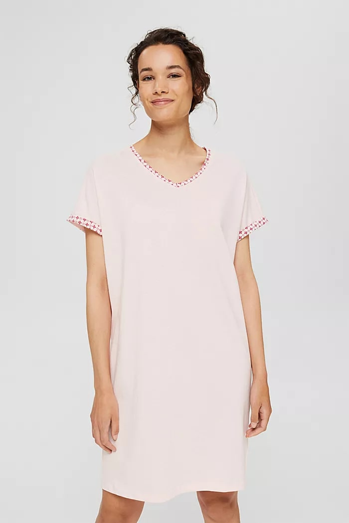 Esprit Pink Slaapkleed korte mouw 36 tot 46