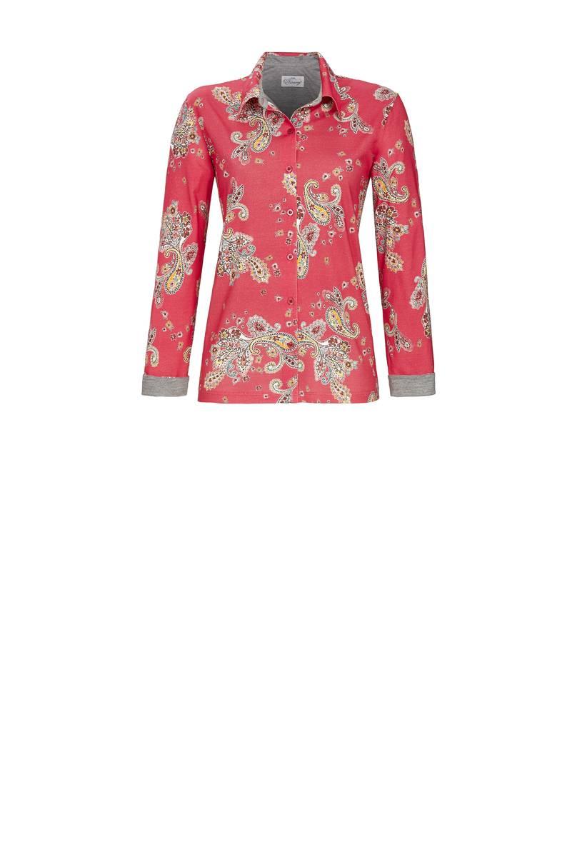 Ringella Bloomy Red Pyjama dames doorknoop 38-48
