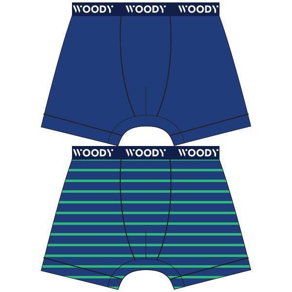 Woody Color Jongensboxershort DUOpack streepjes