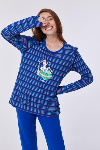 Woody Ijsbeer Pyjama dames streepjes