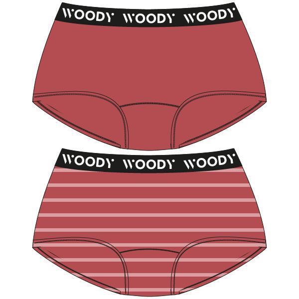Woody Color Meisjesshort DUOpack streepjes