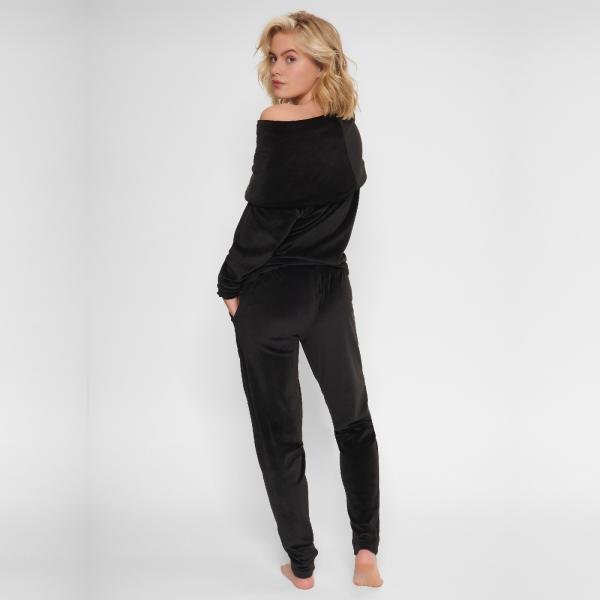 LingaDore Black Velvet LoungewearSET