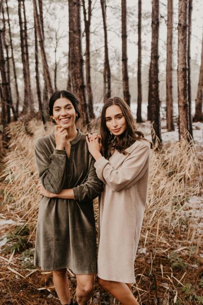 Alice et Maman Cezanne Kleed in ribfluweel
