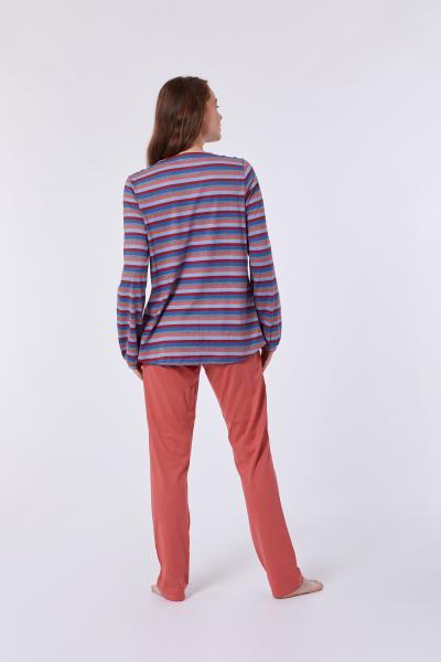 Woody Wasbeer Pyjama dames doorknoop