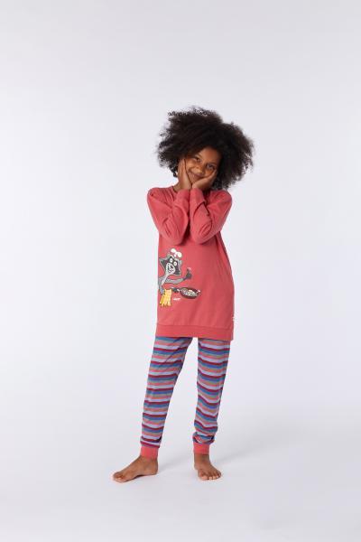 Woody Wasbeer Pyjama meisjes katoen