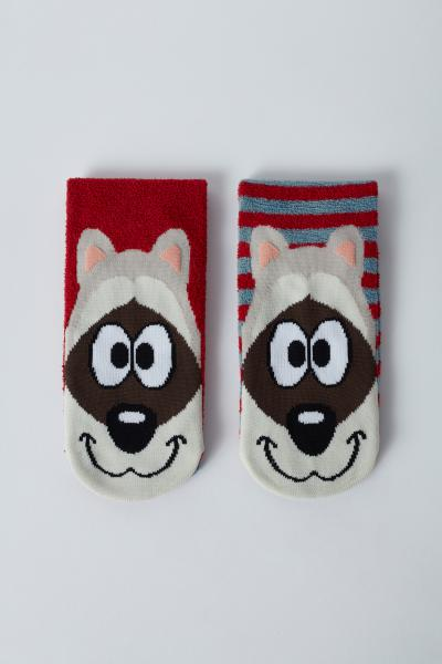 Woody Wasbeer 2x Kousen met anti-slip