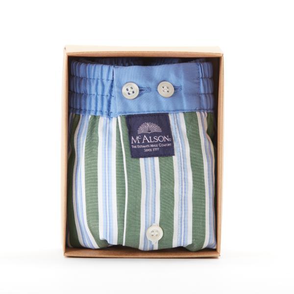 MC Alson Boxershort Striped green & blue