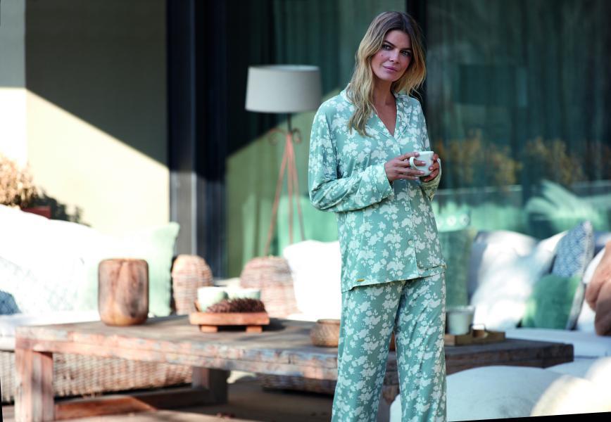 Selmark Flores Pyjama dames doorknoop