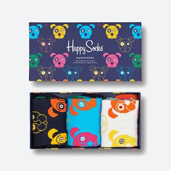 Happy Socks Mixed Dog Giftbox 3 paar 36-40