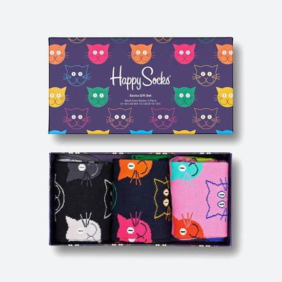 Happy Socks Mixed Cat Giftbox 3 paar 36-40