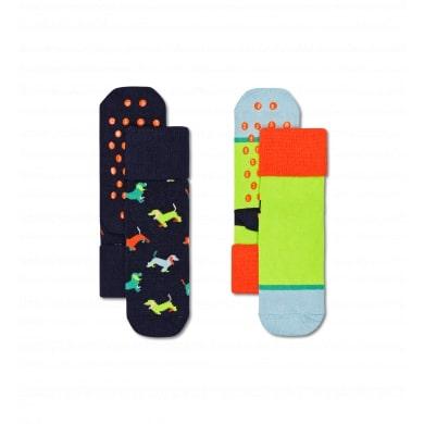Happy Socks Kids Puppy Love Anti-slip kous 2 paar