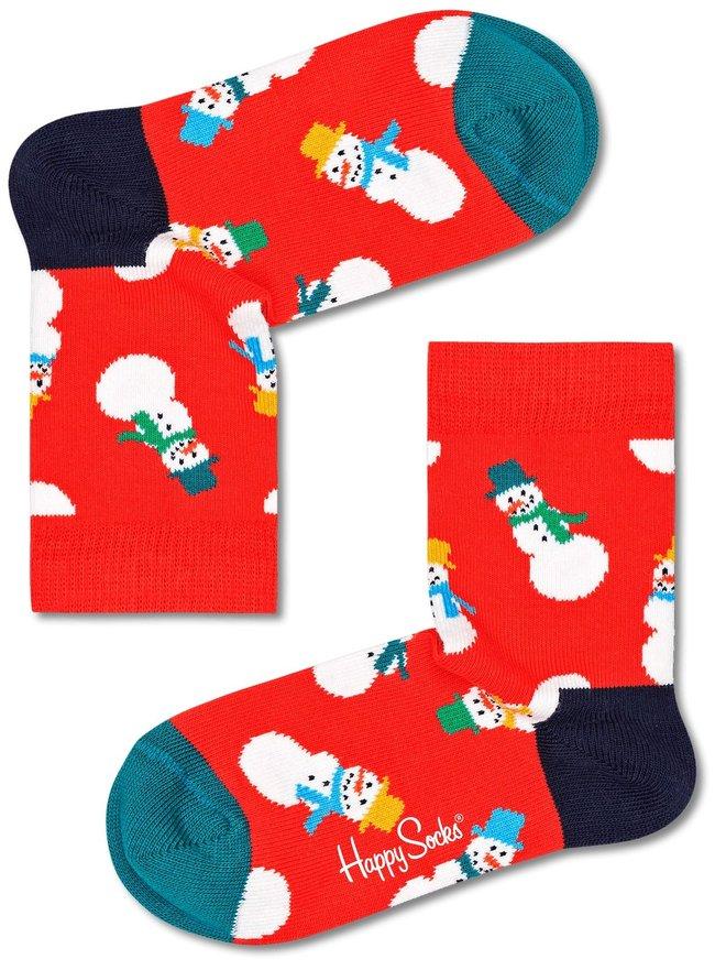 Happy Socks Kids Snowman 1 paar kousen